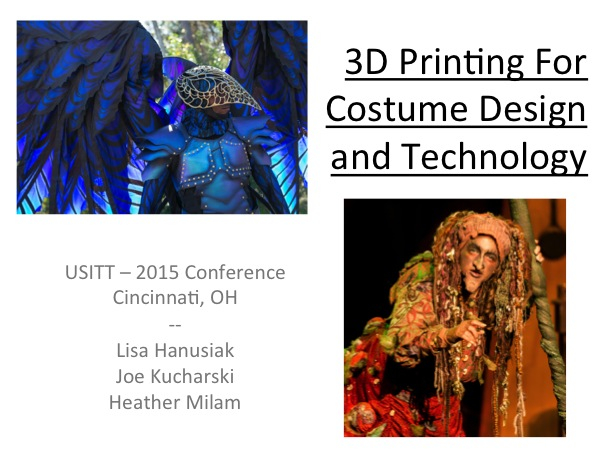 3D Printing For Costume Design and Technology